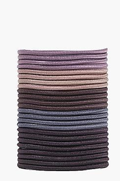 24 elastici per capelli castani