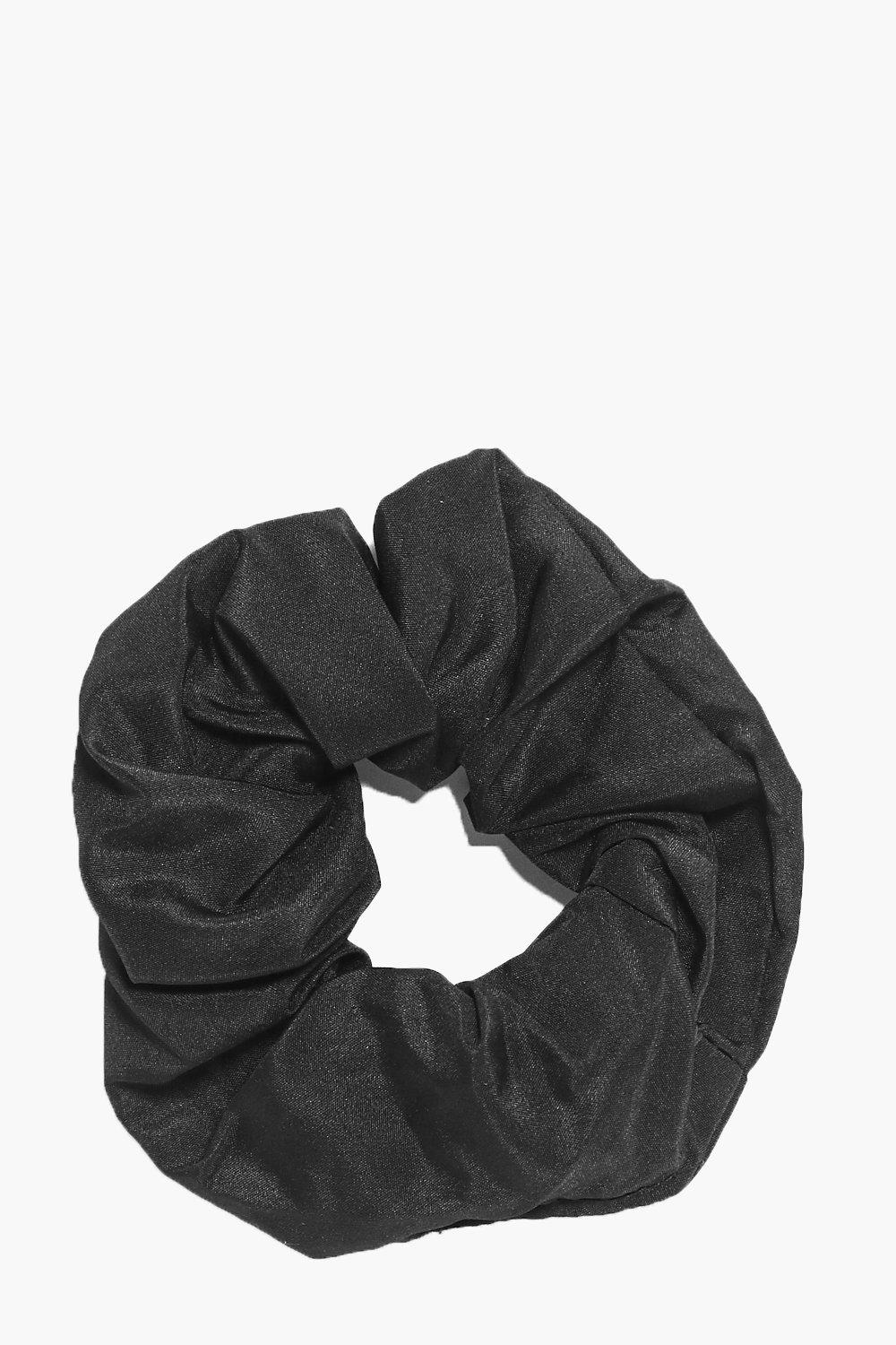 Plain Scrunchie - black - Jemima Plain Scrunchie -