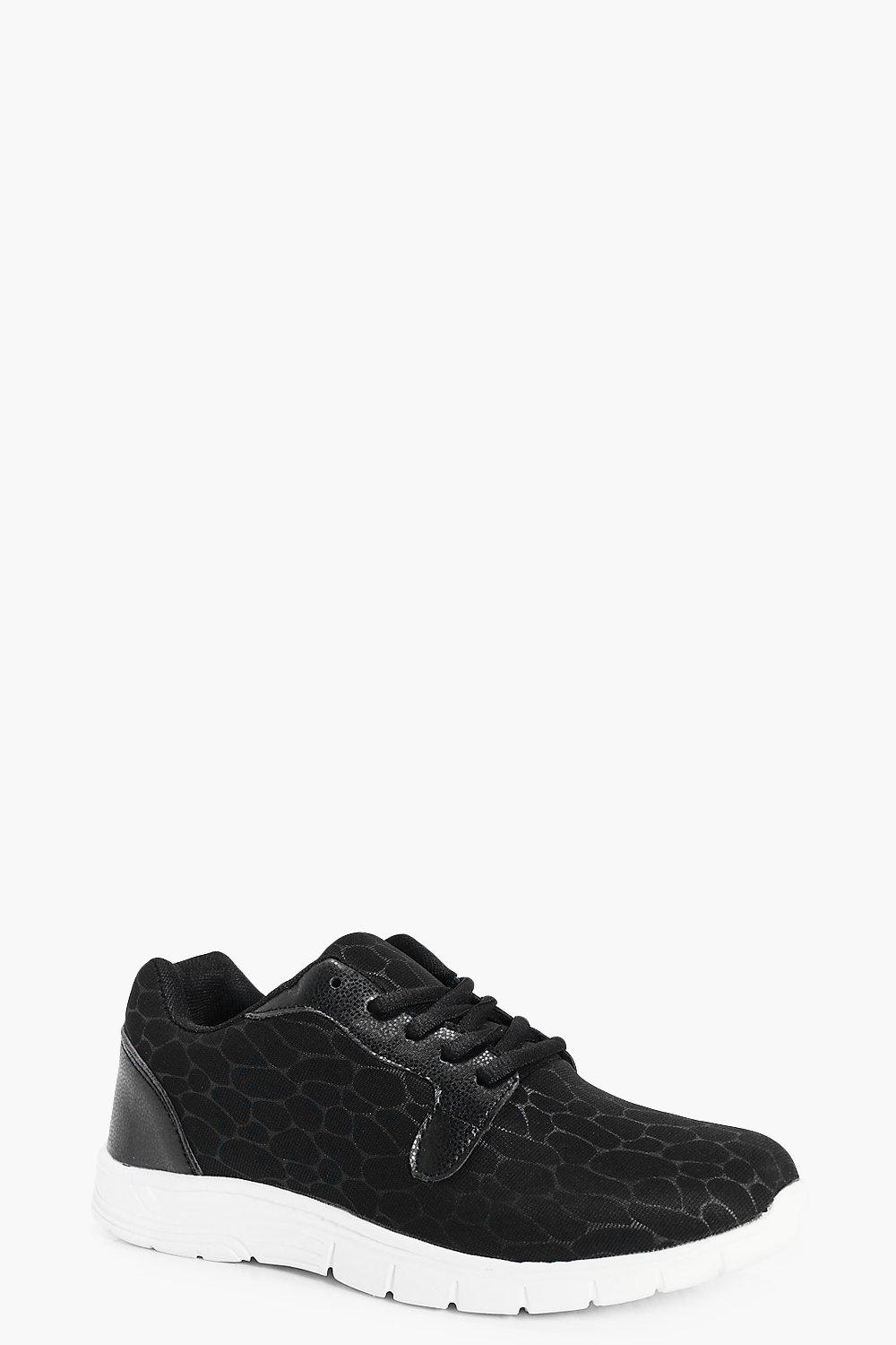 Imogen Animal Contrast Lace Up Trainer