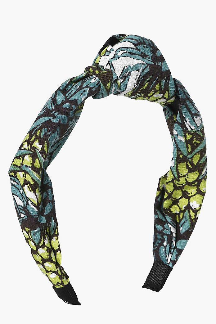 Lizzie Leaf Print Knotted Headband