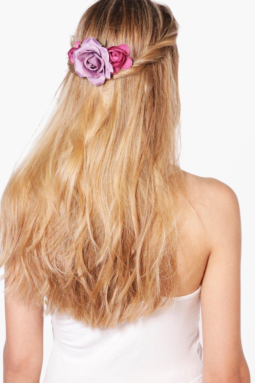 Bridal Purple Floral Hair Slide  purple