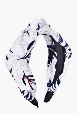 Frankie Abstract Print Knotted Headband