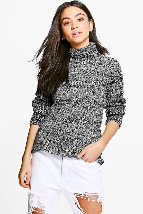 Lauren Funnel Neck Chunky Jumper