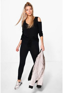 Emily Cold Shoulder Jumper & Jogger Lounge Set