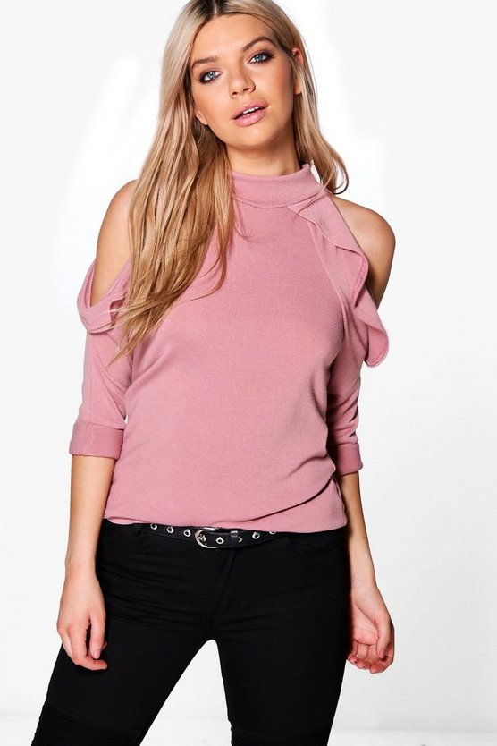 Freya Ruffle Cold Shoulder Jumper