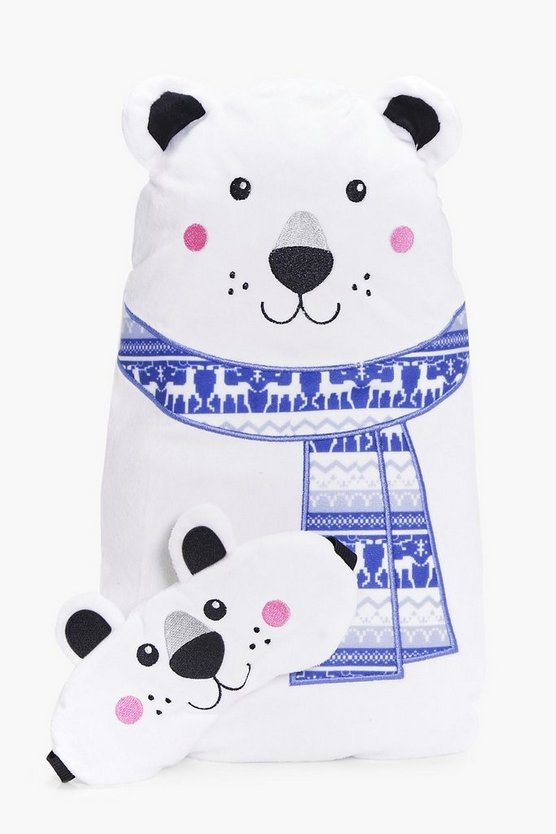 Polar Bear Hot Water Bottle & Eye Mask