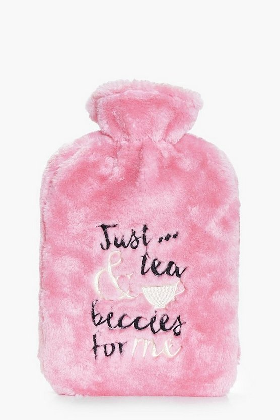 Supersoft Slogan Hot Water Bottle