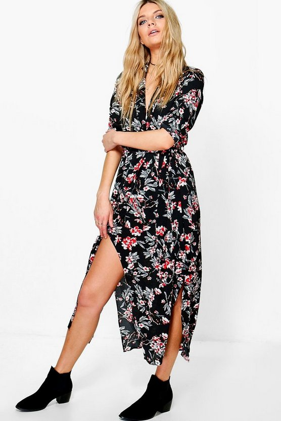 Annora Floral Wrap Maxi Dress