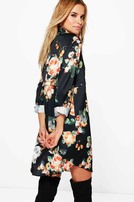 Citaten Annie Xl : Boohoo annie abito a camicia in raso floreale per donna ebay
