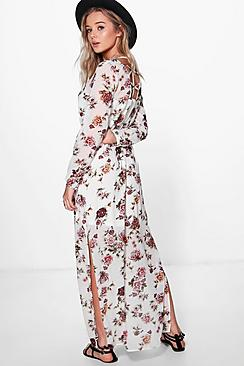 Marlin Floral Cage Back Maxi Dress