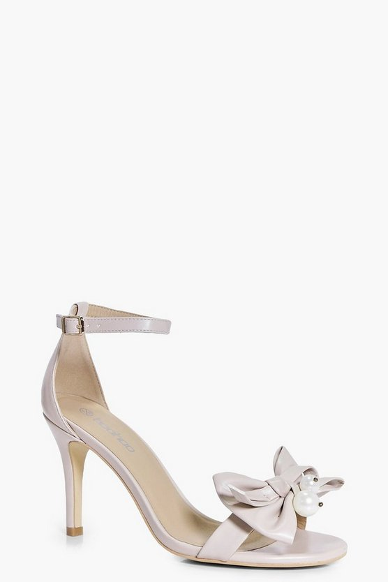 Pearl And Bow Two Part Heels