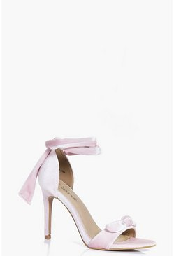 Georgina Velvet Bow Two Part Heels
