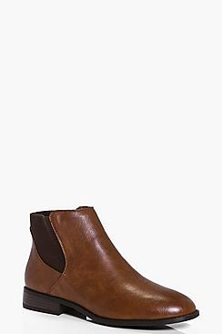 Harriet Pull On Flat Chelsea Boot