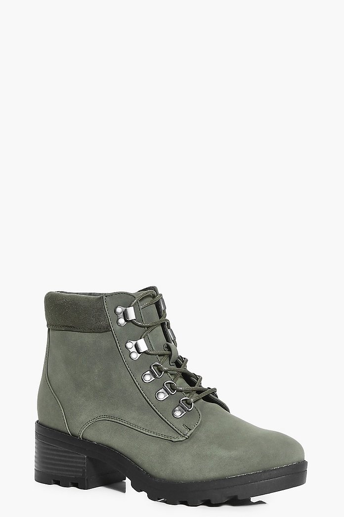 Angel Zip Trim Cleated Hiker Boot