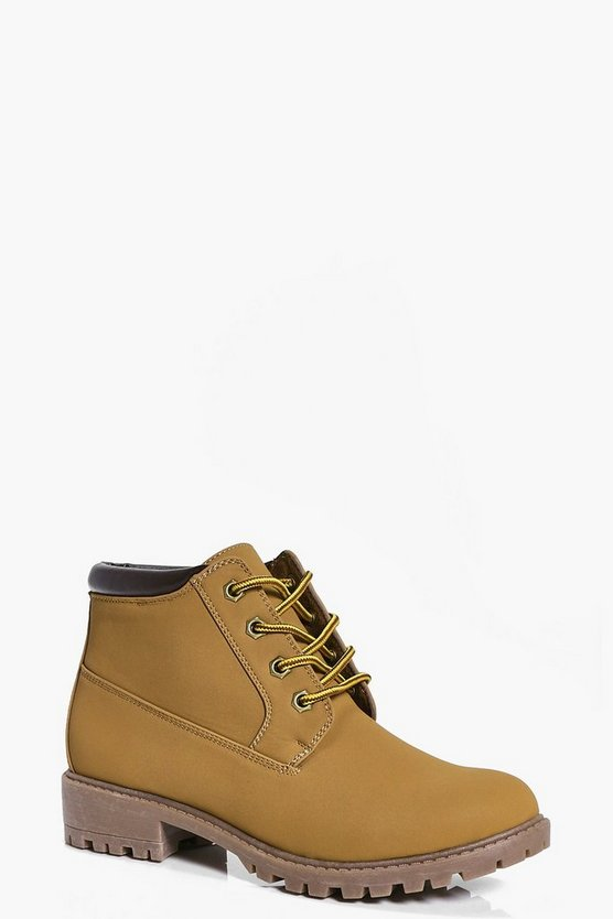 Keira Lace Up Cleated Hiker Boot
