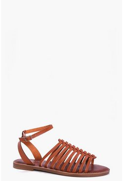 Lydia Multi Strap Ankle Band Flat