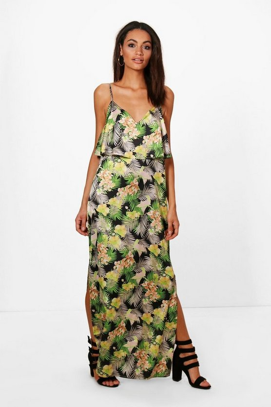 Hedda Tropical Double Layer Maxi Dress