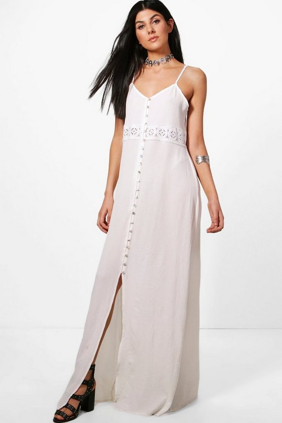 Willa Crochet Waist Maxi Dress