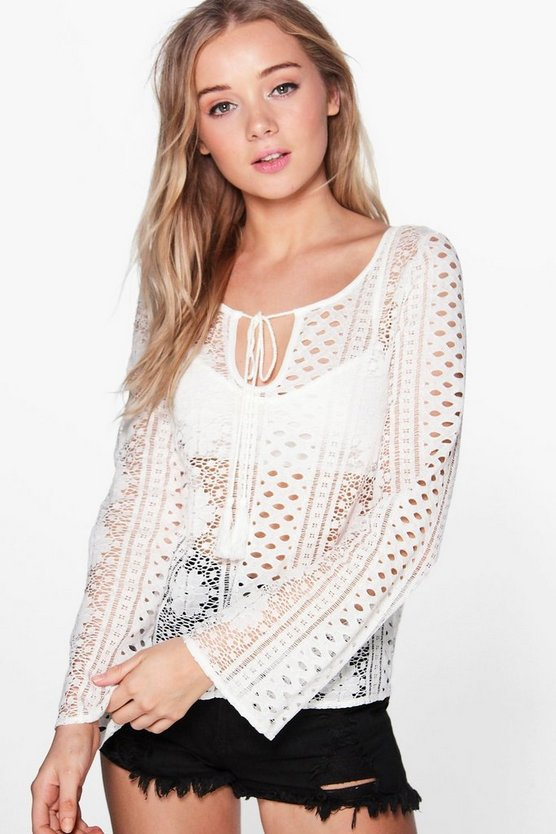 Wendy Crochet Ladder Back Top
