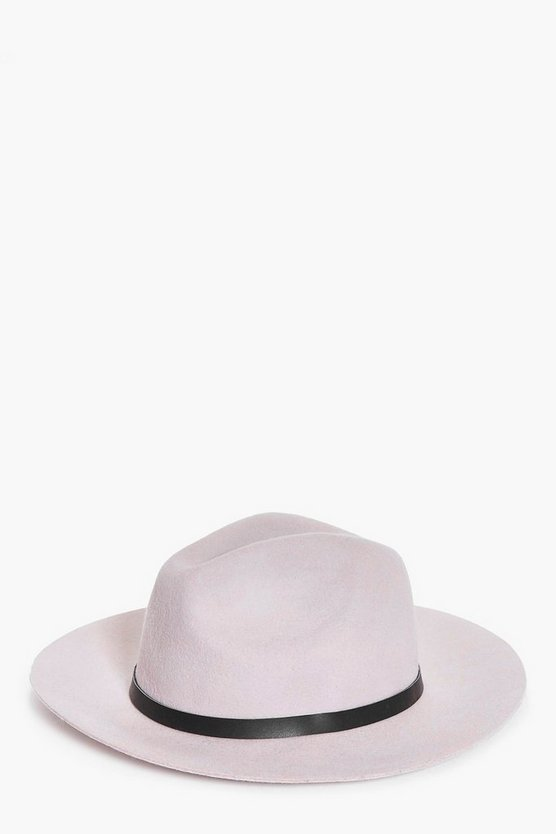 Felicity Belted Wool Mix Fedora