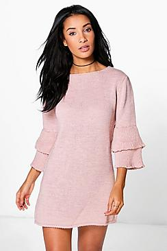Natasha Frill Sleeve Jumper Dress