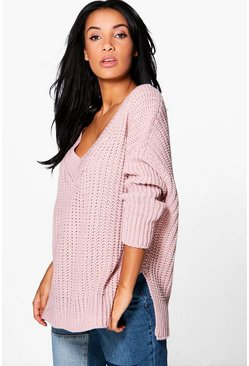 Savannah V-Neck Oversized Jumper Tunic