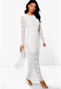 Boutique Georg Lace and Tassle Maxi Dress
