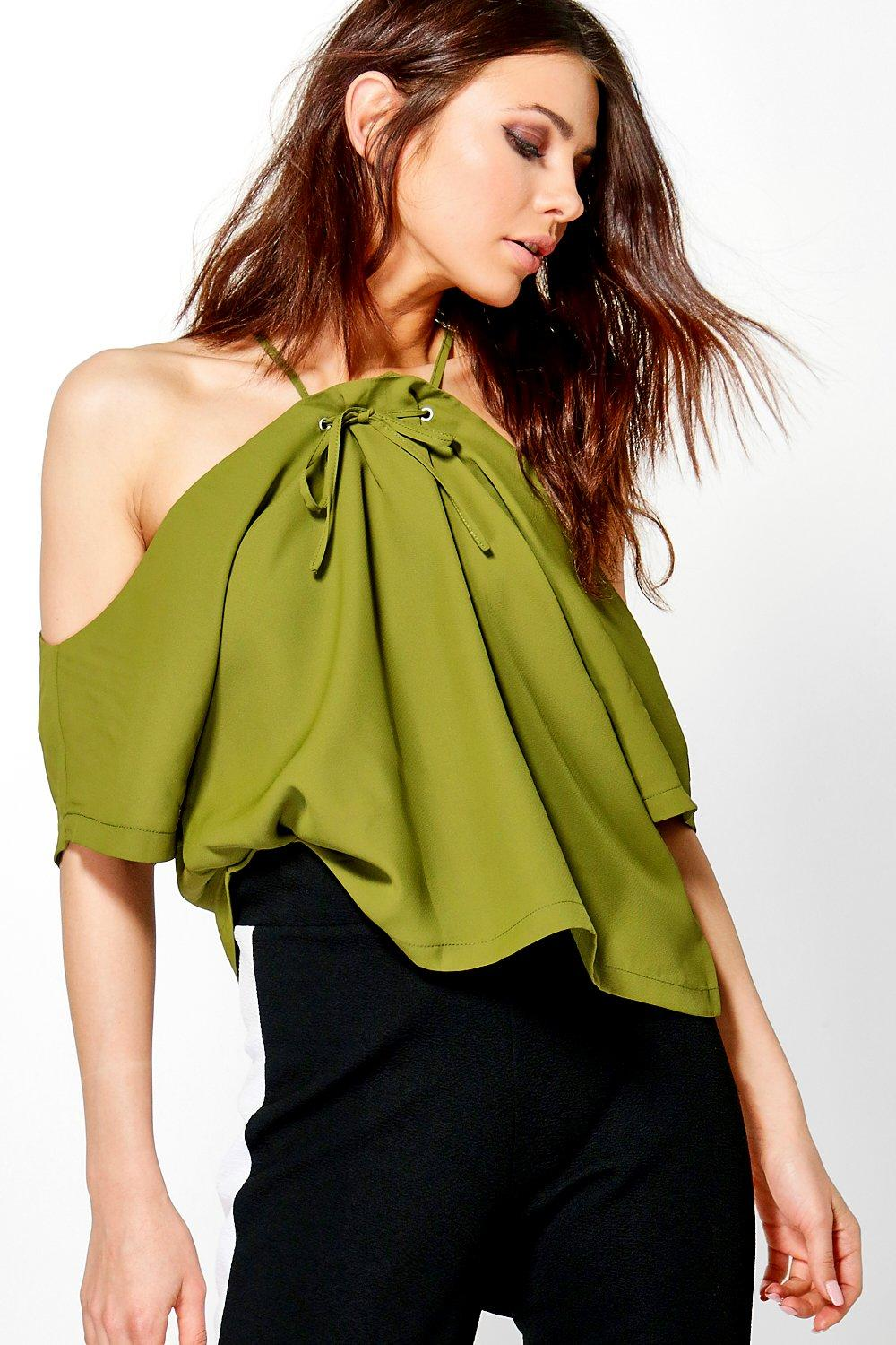 Tamara Tie Detail Cold Shoulder
