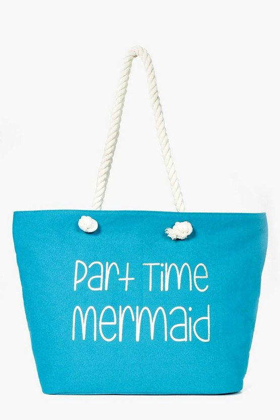 Sadie Part Time Mermaid Beach Bag