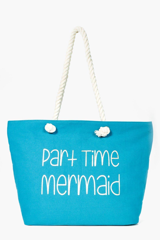 Sadie Part Time Mermaid Beach Bag