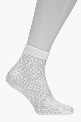 Georgina Oversized Fishnet Ankle Socks