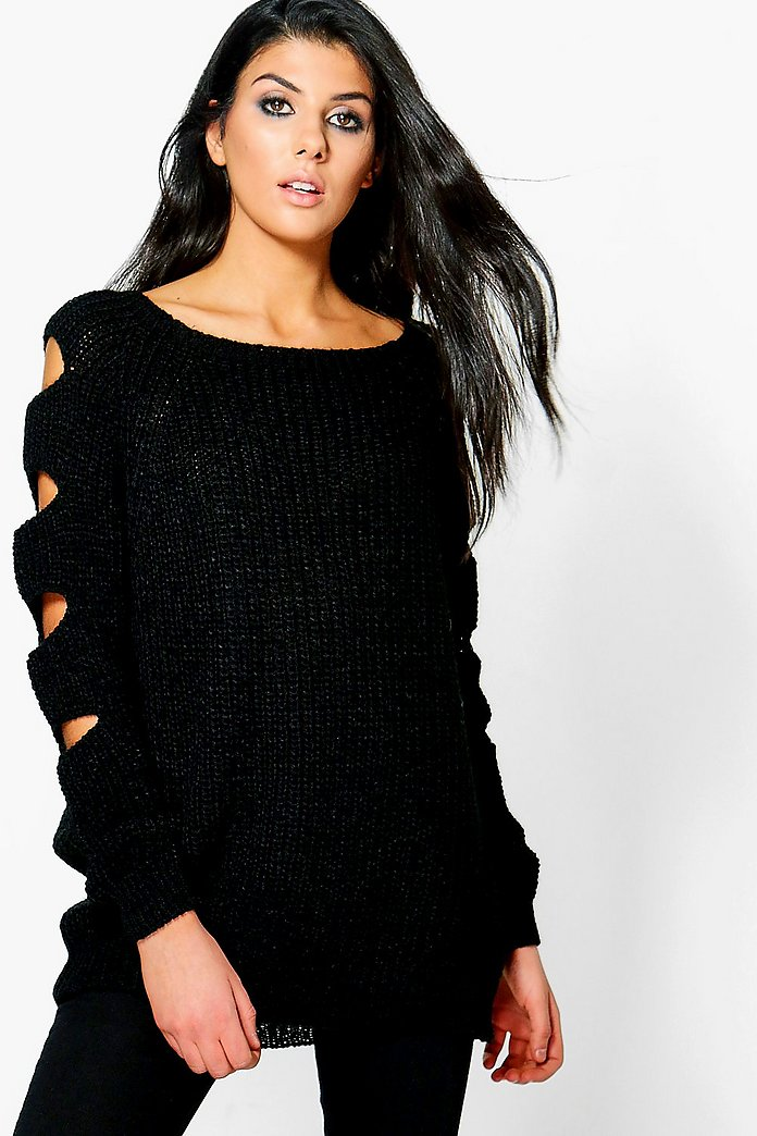 Paige Open Arm Knitted Jumper