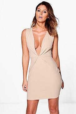 Lucy Pleat Detail Bodycon Dress