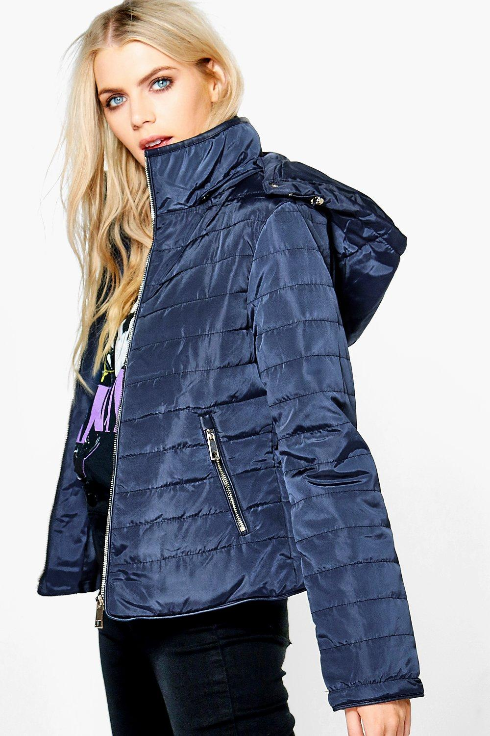 Katie Crop Hooded Bubble Coat
