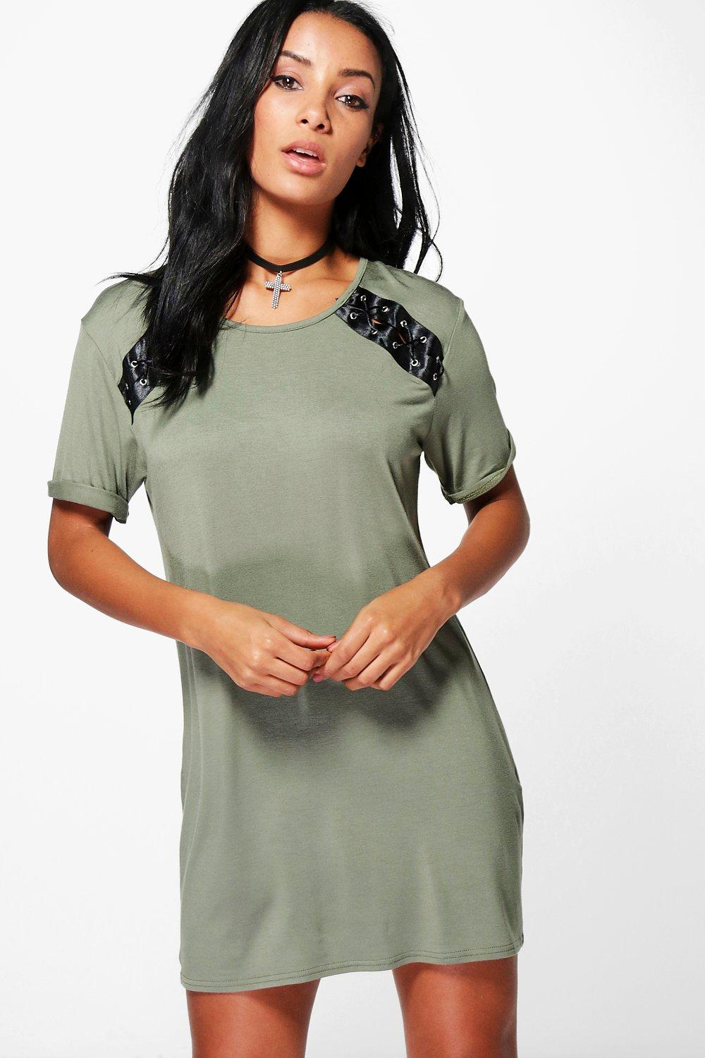 Vivienne Side Lace Up T-Shirt Dress