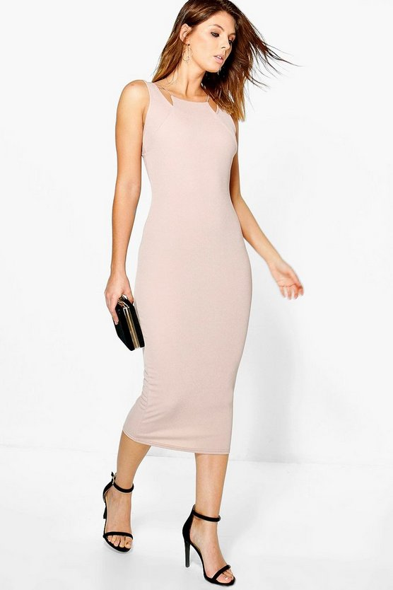 Sinead Double Strap Detail Midi Dress