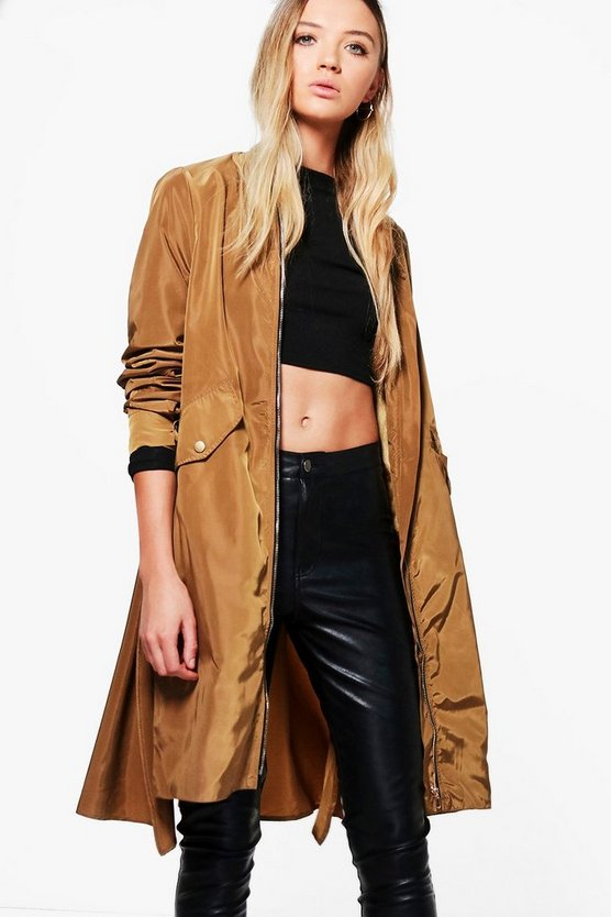 Phoebe Longline Zip Through Parka