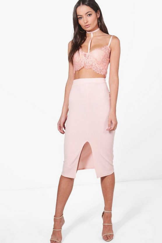 Harness Lace Bralet & Midi Skirt Co-Ord
