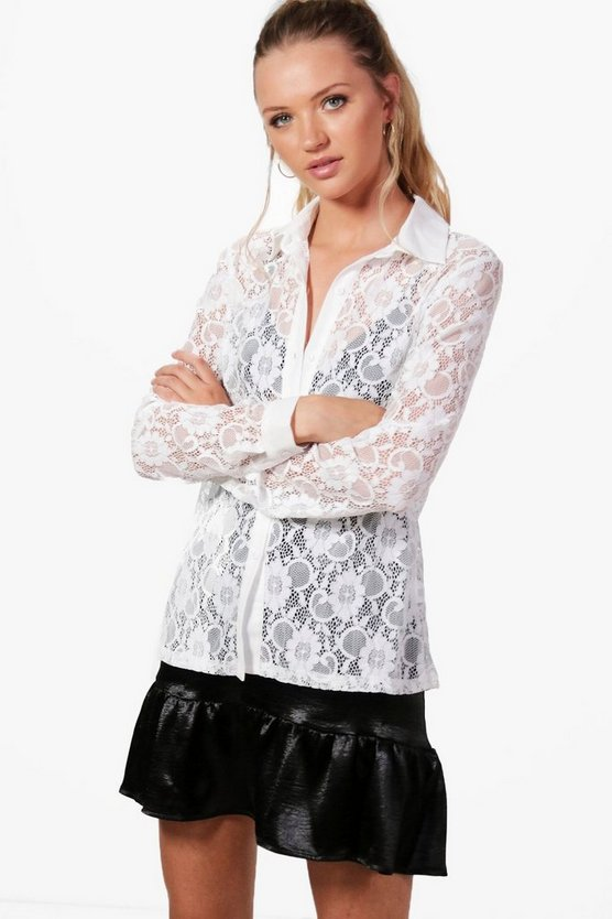 Esmeralda Eyelash Lace Shirt