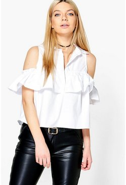 Lizzy Cold Shoulder Ruffle Shirt