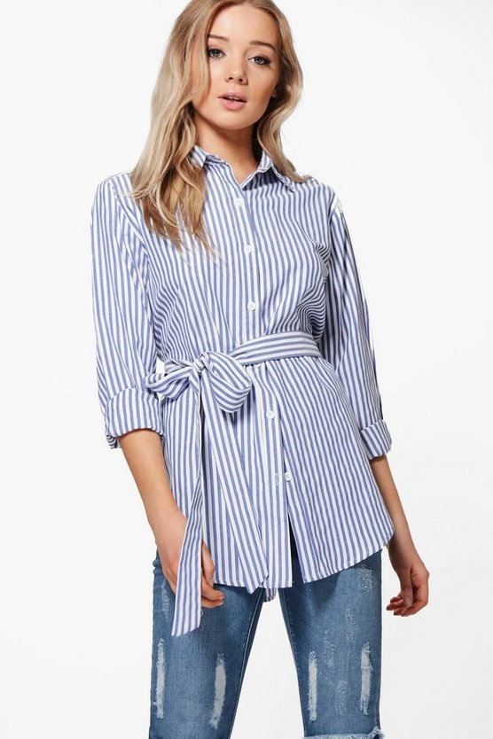 Tilly Tie Striped Shirt