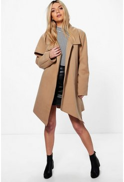 Jessica Oversized Collar Wool Look Coat