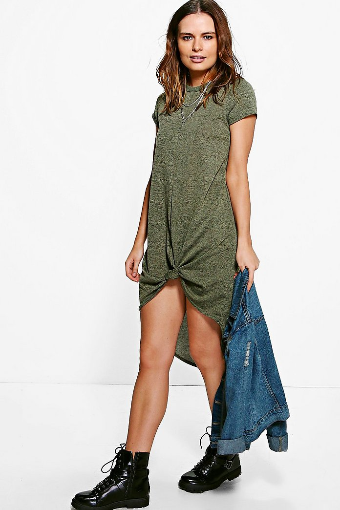 Megan Knotted Knit Dress