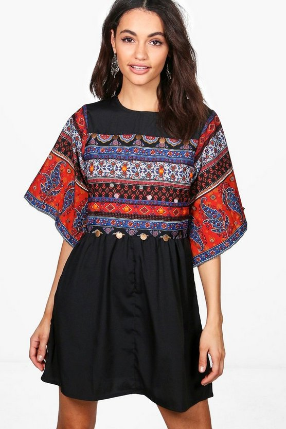 Boutique Kyra Embellished Smock Dress