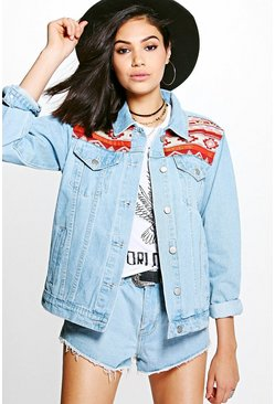 Lilly Embellished Oversized Denim Festival Jacket