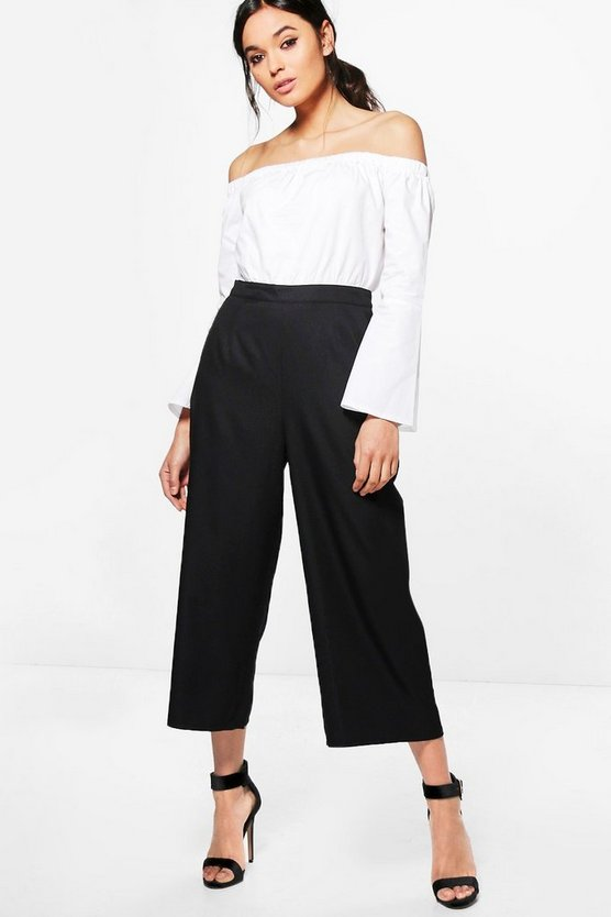 Niamh Bardot Contrast Shirt Tailored Jumpsuit