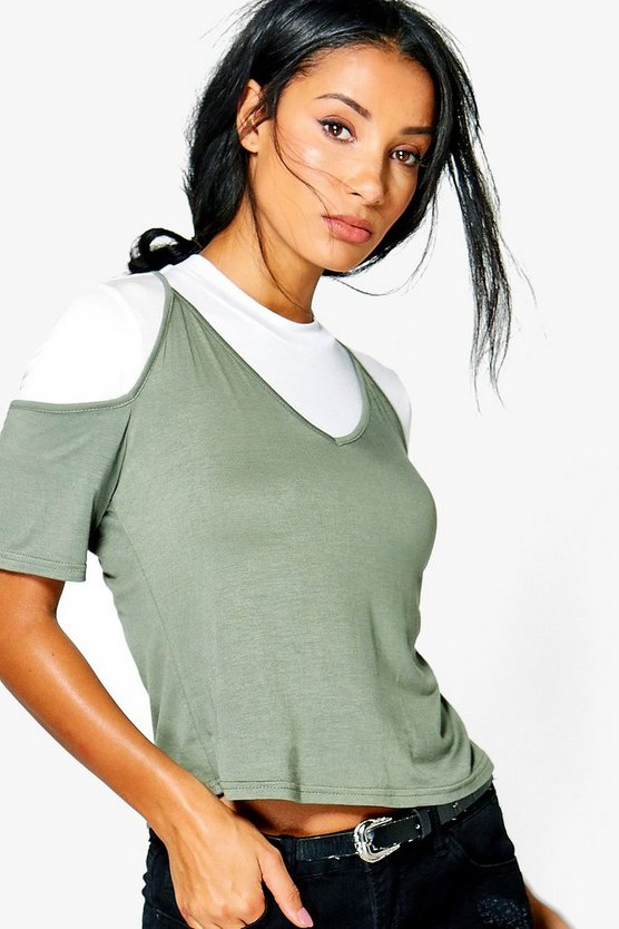 Kelly Cold Shoulder 2 in 1 Cami