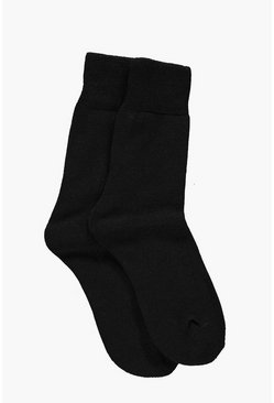 Florence Plain Thermal Slipper Socks 3 Pack