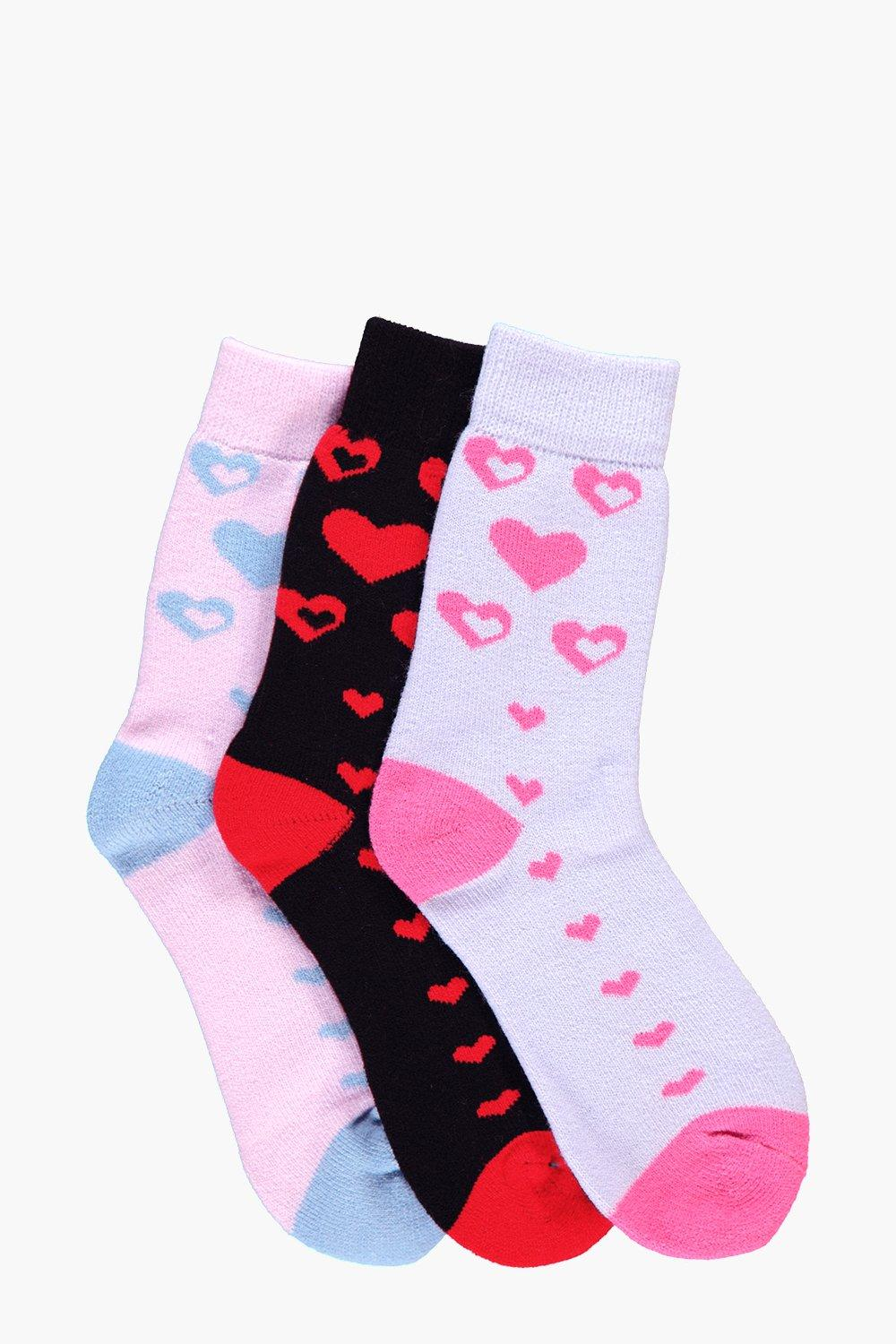 Molly Heart Thermal Slipper Socks 3 Pack