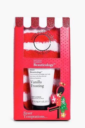Vanilla Foot Lotion & Socks Gift Set